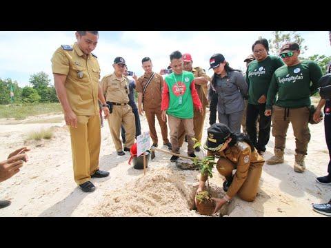 Bupati Landak membuka secara resmi Kegiatan Hutan Harapan Mandor Tahun 2019