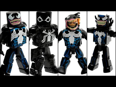 "Marvel Minimates - ""Venom Through the Ages"" Boxset, http://www.lightscameraactionfigures.com This is a video review of the Diamond Select Marvel Minimates ""Venom Through the Ages"" 4-pack boxset featuring Venom..."