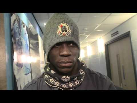 Mario Balotelli 2011 interview about smiling after scoring a goal