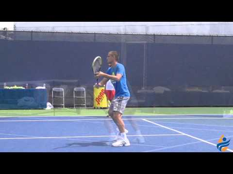 Mikhail Youzhny Slow Motion Serve, Forehand, Backhand, & Volleys 1080p