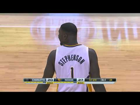 Lance Stephenson Half Court No Look Pass To Luis Scola