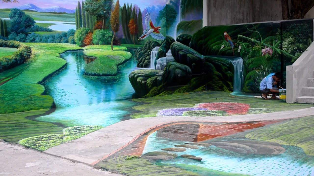 Biggest 3d mural painting in the philippines 3d painting for 3d mural painting