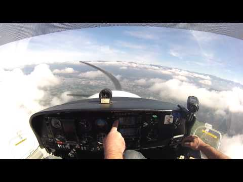 LFMT CHAMBERY in DA40. Cloud surfing and landing at LFLB