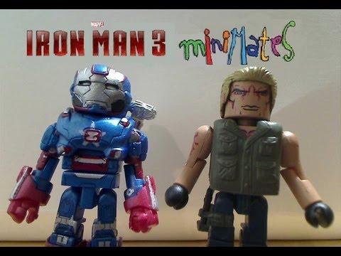 Iron Man 3 Minimates: Iron Patriot and Extremis Soldier Review, Review of the new 2013 Iron Man 3 Marvel Minimates Series 49 Iron Patriot and Extremis Soldier 2-Pack by Diamond Select Toys (DST) ! NOTE: I apologize for th...