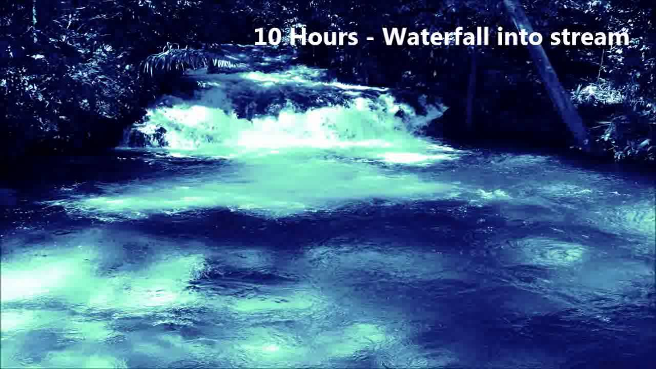 10 Hours - Waterfall into a stream - Ambient Sounds for meditation ...