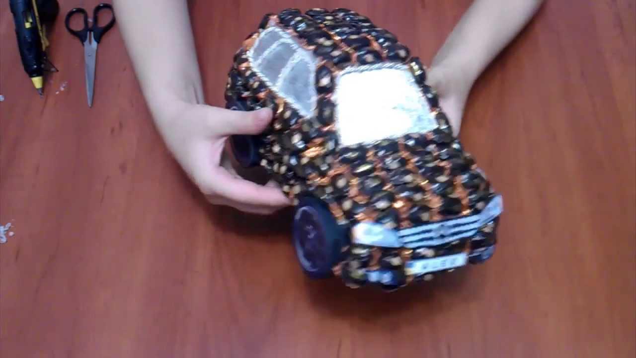 Машинка из пенопласта