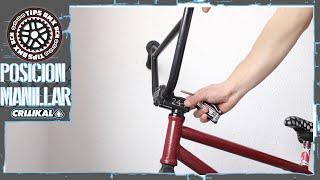 Posición y ajuste del manillar de bicicleta