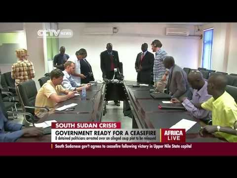 South Sudan to release 8 detained politicians arrested over an alleged coup plot
