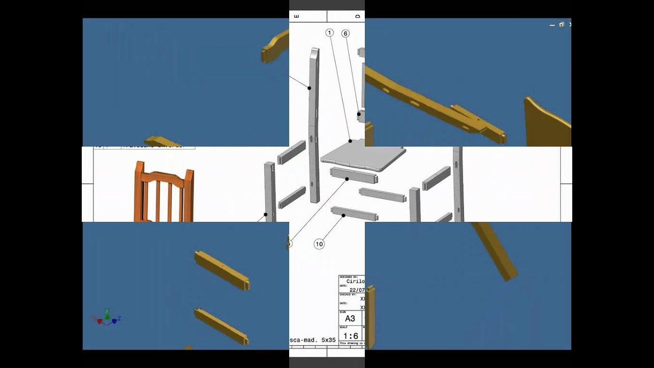 Autodes inventor planos de una youtube for Sillas para planos