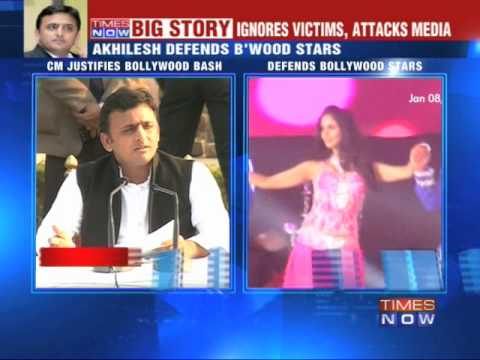 Cornered Akhilesh Yadav defends Bollywood bash