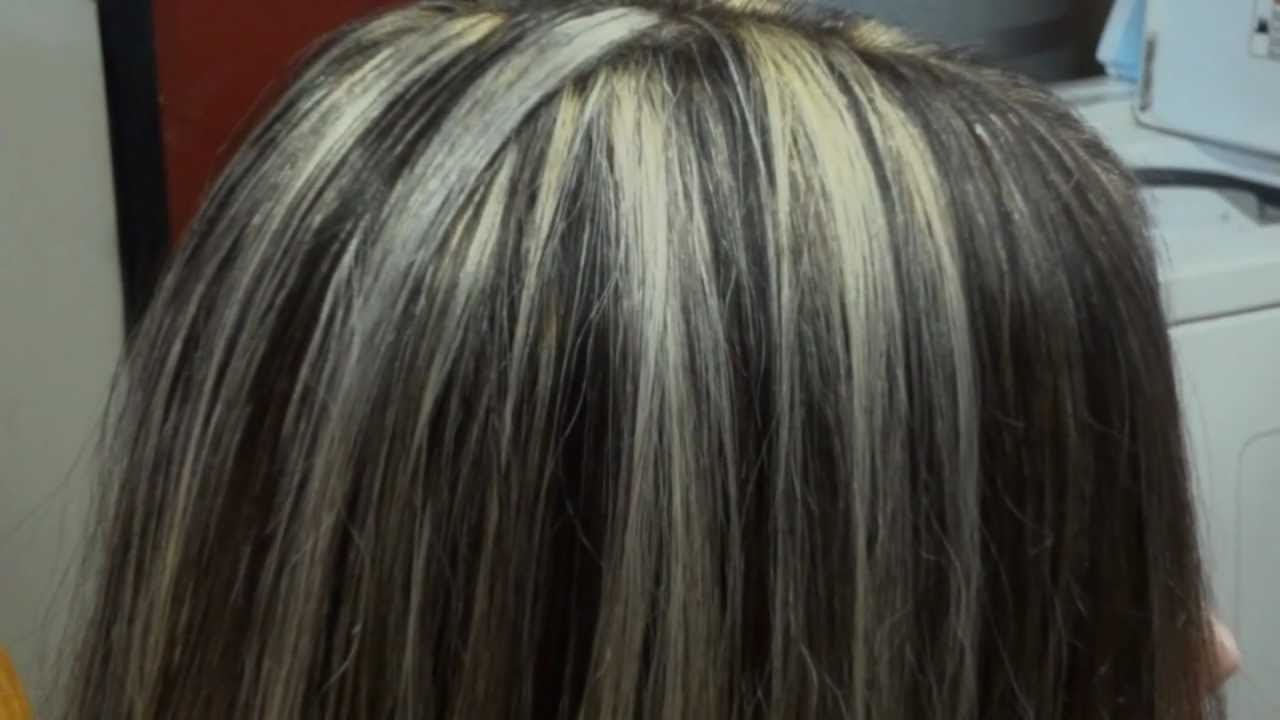 Pictures Of Silver Platinum Highlights Dark Brown Hairs