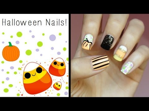 Halloween Nails!!! Cute & Easy Design!