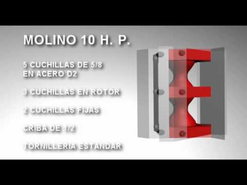 Molino para PET de 10 H. P. y plásticos en general