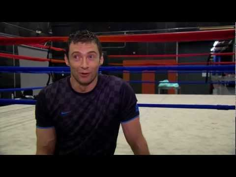 Hugh Jackman Training with Legendary Boxer Sugar Ray Leonard