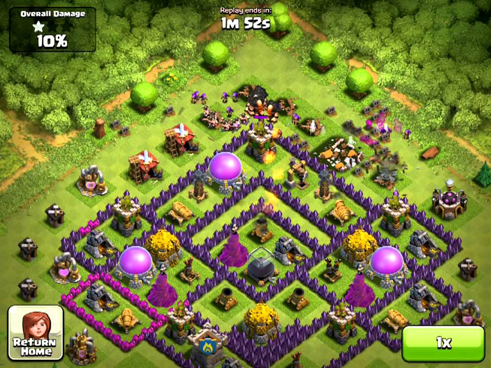 Clash of clans attack 13 popular th8 base design youtube