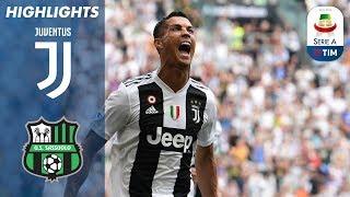 Juventus 2-1 Sassuolo   Ronaldo Scores First Juventus Goals   Serie A