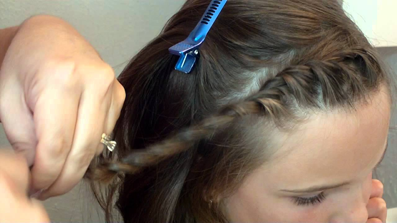 quick front twist hairstyle youtube