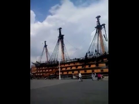 HMS VICTORY SHIP at the Dock Yard 14th June 2014