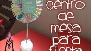 TUTORIAL Cómo hacer un centro de mesa/Party Centerpiece Shower/Bautizo Scrapbook