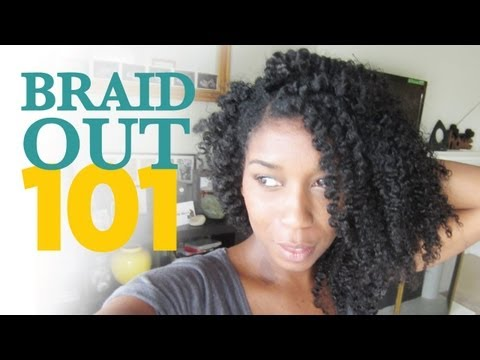 """How To Braid Out Method 101 """"Natural Hair"""""""