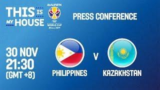 Послематчевая пресс-конференция Филиппины - Казахстан (Квалификация на Чемпионат Мира 2019)