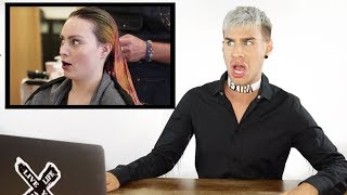HAIRDRESSER REACTS TO MOLLY BURKE GETTING HER HAIR BLEACHED AND CUT |bradmondo