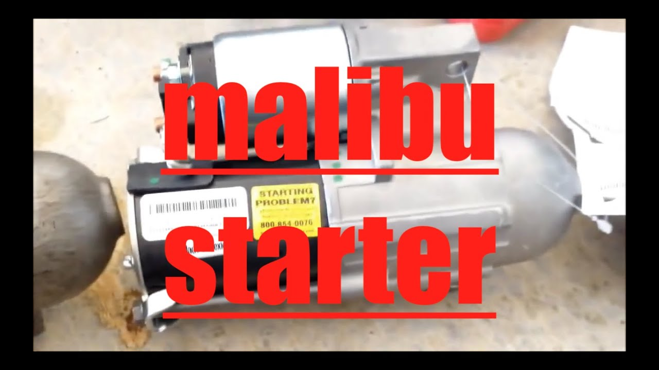 How To Replace Starter Motor 2005 Chevrolet Malibu