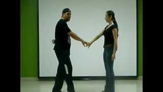 Aprende a bailar salsa. Vuelta con paso doble