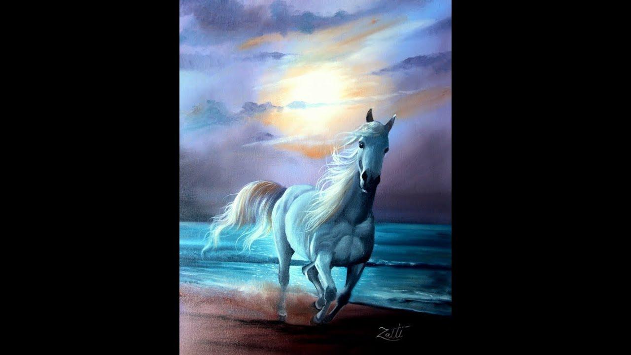 Como pintar um cavalo youtube - Como pintar sobre tela ...