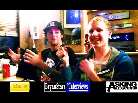Asking Alexandria Interview #3 James Cassells &amp; Sam Bettley 2012