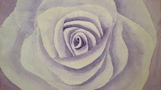 Como pintar una rosa con acuarela