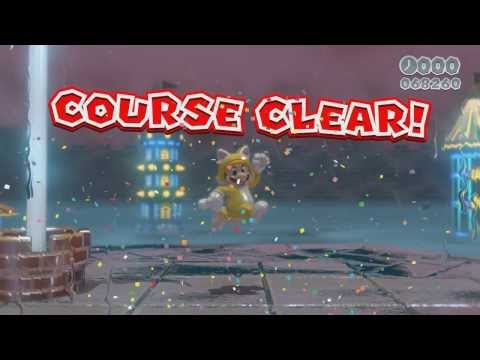 Super Mario 3D World - World Bowser (FINAL Boss, Ending, Credits, 100% Green Stars and Stamps)