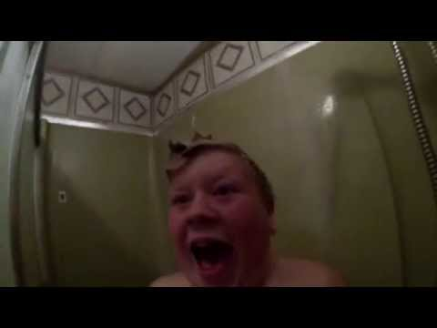 Dad Pranks Son With Shower Scare image