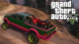 ★ GTA 5 Hauling ATV Up Mountain Second Try Off