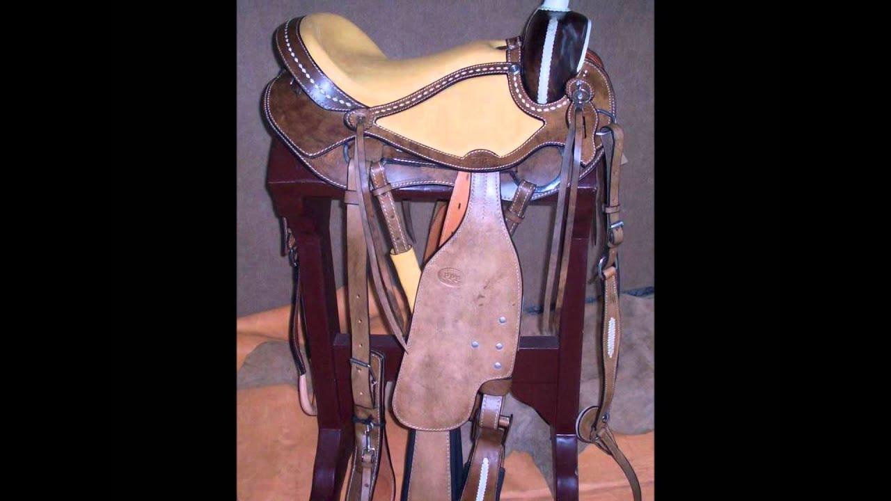 Sillas para caballos talabarteria ppp youtube for Sillas para vaqueria
