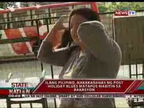 SONA: Paandar: Ilang Pilipino, nakakaranas ng post holiday blues