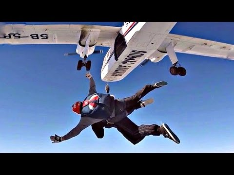 JUMPING FROM A PLANE - FIRST SKYDIVE! | 100.000 SUBSCRIBERS - GoPro Tandem Skydive from BN2 Islander