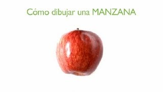 Cómo Dibujar Una Manzana : Frutas Dibujadas