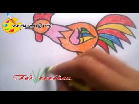 Vẽ con Gà trống/How to Draw Rooster