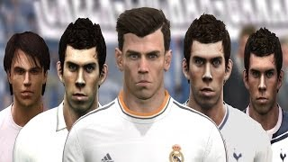Gareth BALE From PES 2008 To PES 2014 (FACE Evolution