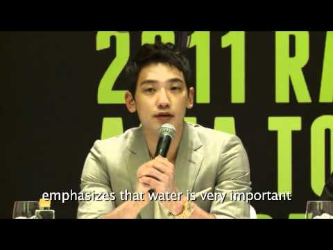Highlights of Korean pop star, RAIN's press conference in Singapore.