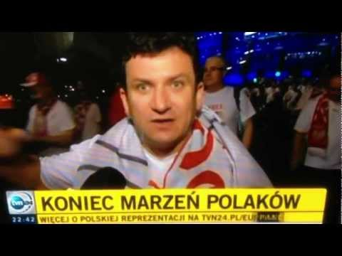 [HQ] EURO 2012 Polska VS Chechy - Reakcja zlego kibica (bez cenzury)