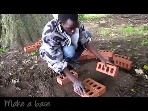 How to Make a Brick   Clay Rocket Stove   African style