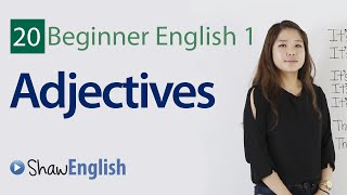 Basic English adjectives, Beginner Adjectives, Beginner 1, Lesson 20