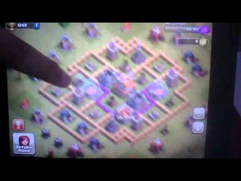 Clash of clans- townhall 7 base design #2 trophy hunting - YouTube