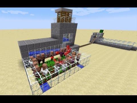 Minecraft Tutorial - 1.8 Infinite Adult Villager Spawner and Transport System