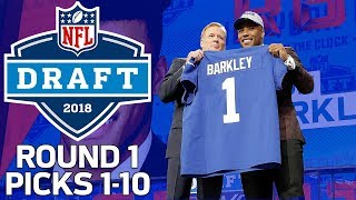 Picks 1-10: Trades, QB Surprises, & MORE! (Round 1) | 2018 NFL Draft