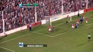 Gol de Sánchez. Instituto 2 - Gimnasia (J) 2. Fecha 19. B Nacional 2014. FPT.