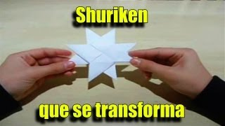 Origami Como Fazer Uma Shuriken Que Se Transforma De 4