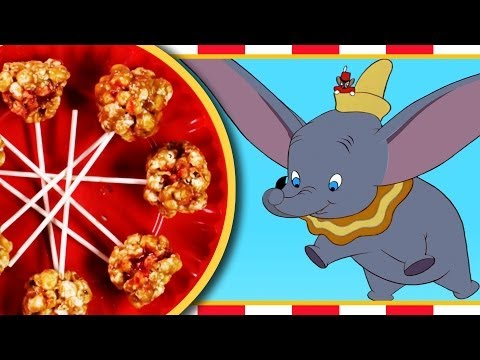 Dumbo's Peanut Butter and Jelly Popcorn Balls Recipe - Inspired by Disney's Dumbo